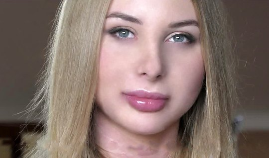 Russian girl takes male sperm to his delicate body