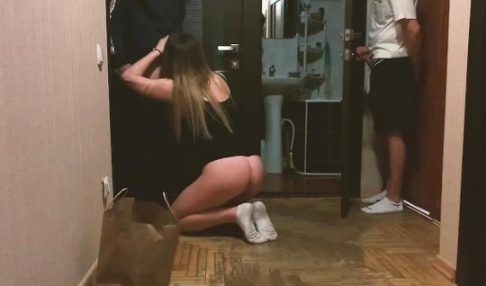 Russian girl cheating on her boyfriend and takes it on home camera