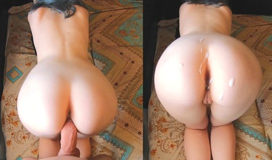 Homemade Doggystyle Fucking On The Floor Of The Room Brings Cum For A Girl With Blue Hair