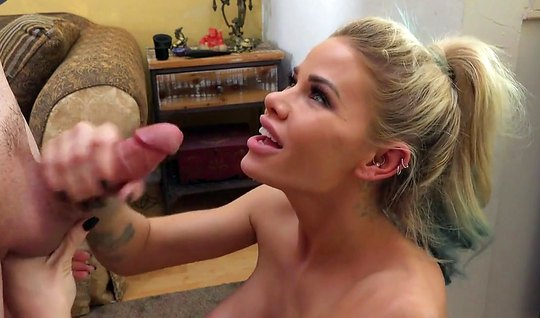 Blonde with big Tits lets a guy fuck her tight anal