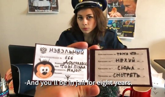 Russian police has agreed to shoot homemade porn parody