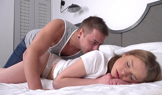 Young sleeping Russian beauty came from the beautiful sex with each other